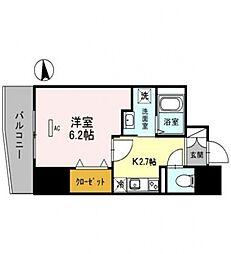 コージーコート釣鐘[7階]の間取り