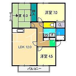 ラピスハイネスA棟[1階]の間取り