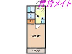 メゾンユートピア[3階]の間取り