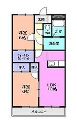 ハッピータウン和[2階]の間取り