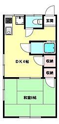 兵庫県神戸市須磨区須磨浦通5丁目の賃貸アパートの間取り