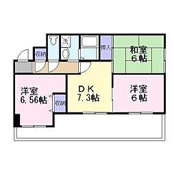 兵庫県加古川市加古川町平野の賃貸マンションの間取り