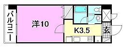 KWレジデンス東石井[804 号室号室]の間取り