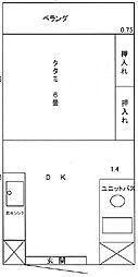 プロメンテ九州ビル[503号室]の間取り