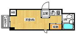 京都府京都市中京区瓦町の賃貸マンションの間取り