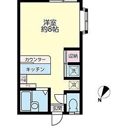 ファミーユ湘南[101号室]の間取り