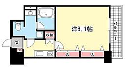 アレンダール神戸本山[603号室]の間取り