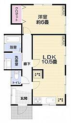 神奈川県横須賀市坂本町5丁目の賃貸アパートの間取り