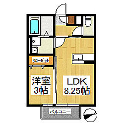 セジュール・ディア・モント[2階]の間取り