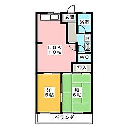メゾンブランシェヨシダ[2階]の間取り