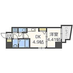 プライムアーバン松屋町 5階1DKの間取り