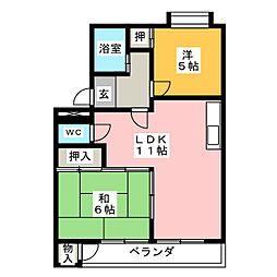 中京ビル[2階]の間取り