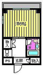 YSコーポ92'[305号室]の間取り