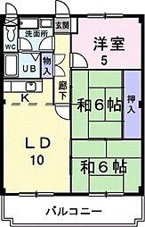 神奈川県相模原市南区新磯野3丁目の賃貸マンションの間取り