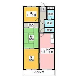 ベルシャトー新守山[3階]の間取り
