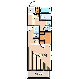 グラディート町田[6階]の間取り