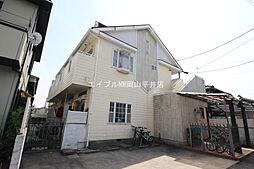 岡山県岡山市北区十日市中町の賃貸アパートの外観