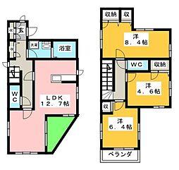 [一戸建] 神奈川県茅ヶ崎市本宿町 の賃貸【/】の間取り