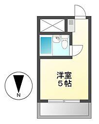 愛知県名古屋市中区金山1丁目の賃貸マンションの間取り