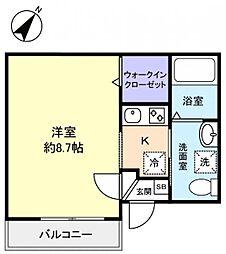 ウィズペット八千代台[3階]の間取り