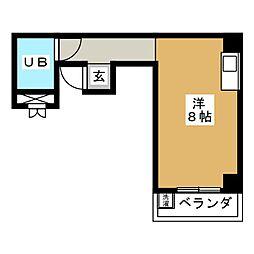 ツインビービル覚王山[3階]の間取り