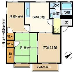 第5岡野ハイツ 202[2階]の間取り
