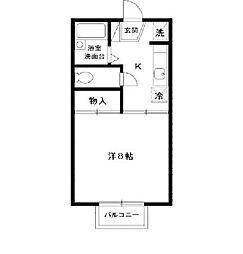 ライトハウス III[2階]の間取り
