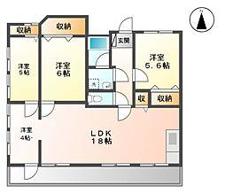 Fila Alta[4階]の間取り