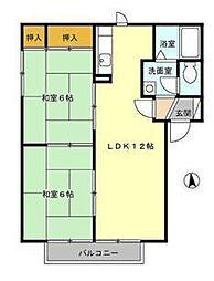 アメニティ名倉II[2階]の間取り