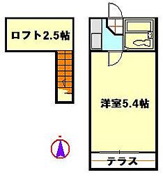 クロノス竹ノ塚[1階]の間取り