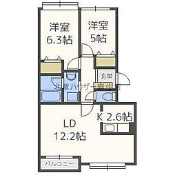 フロンティア77 II[3階]の間取り