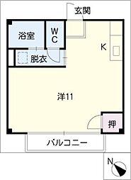 ホームバロン[1階]の間取り
