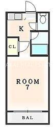 ヒトミ第2ビル[40B号室]の間取り