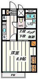 埼玉県さいたま市北区日進町1丁目の賃貸アパートの間取り