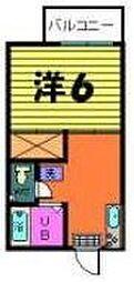 聚楽ハイツ[2-C号室]の間取り