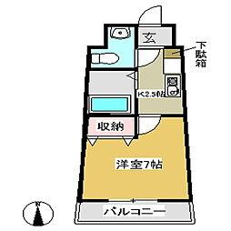 セラヴィ坂崎[703号室]の間取り