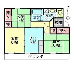 顕徳ハイツ[407号室]の間取り