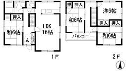 [一戸建] 大阪府池田市渋谷1丁目 の賃貸【/】の間取り
