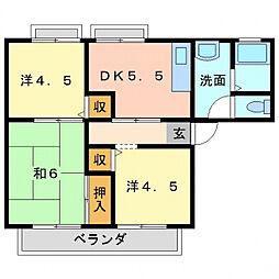 シュテートハウス[2階]の間取り