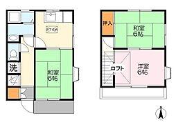 [テラスハウス] 神奈川県川崎市多摩区中野島3丁目 の賃貸【/】の間取り