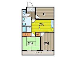 プラザ桜田II[1階]の間取り
