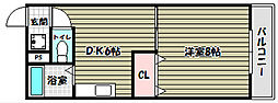 アンビエンテ茱萸木[1階]の間取り