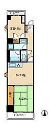 竹ヶ花パークハウス[2階]の間取り