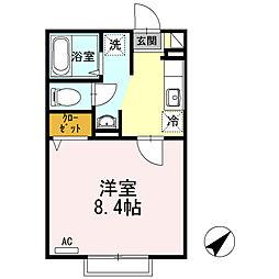 センターロード A棟[1階]の間取り