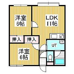ピュアコート[3階]の間取り