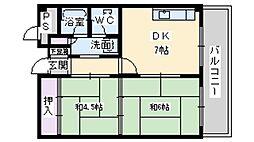 第1マンション北[2階]の間取り