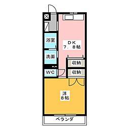 ユーミーSUZUKI[4階]の間取り