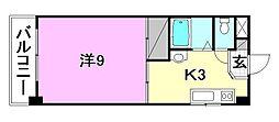 竹乃井第2ビル[206号室]の間取り