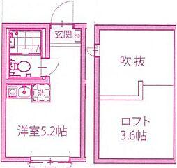 神奈川県川崎市高津区久地4の賃貸アパートの間取り