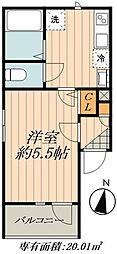 JR総武線 小岩駅 徒歩7分の賃貸アパート 1階1Kの間取り